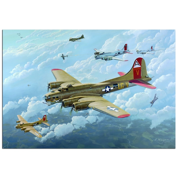 Steven Heyen 'B17' Contemporary Painting Gicle on Metal