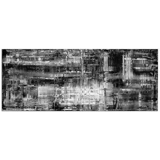 Nicholas Yust 'Aporia Black & White' Colorful Modern Painting Giclée on Metal