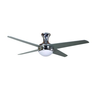 52 Inch Ceiling Fan in Chrome Finish with 16 Inch Lead Wire
