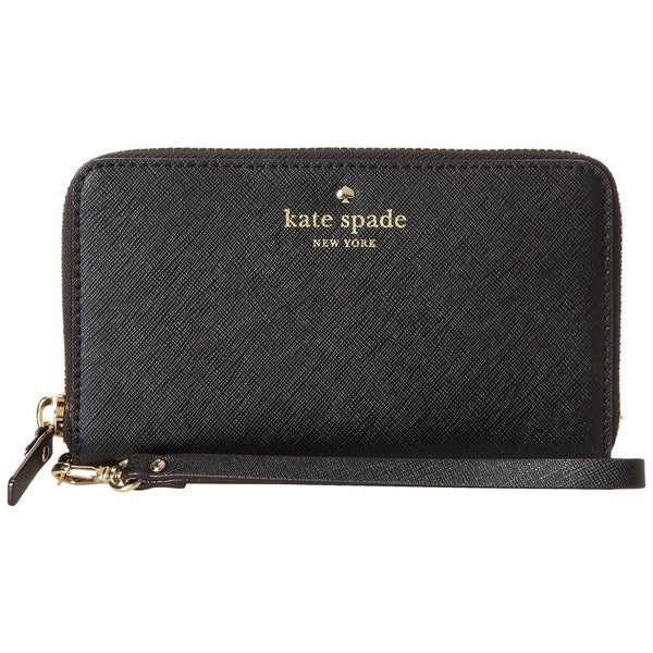 Kate Spade New York Jordie Black Leather Wristlet