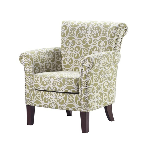 Brooke Green Birch Wood Accent Chair