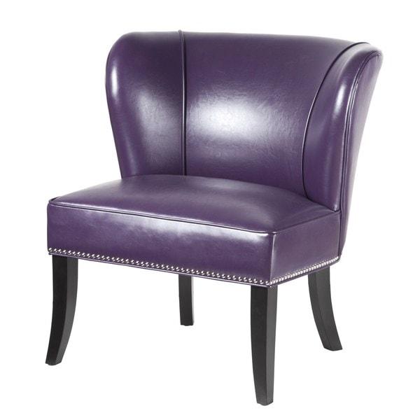 Hilton Purple Accent Chair