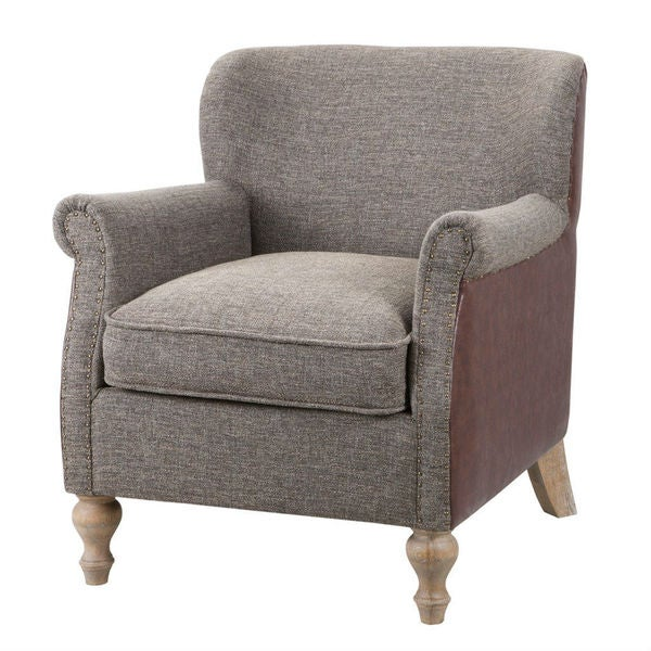 Luther Grey Accent Chair