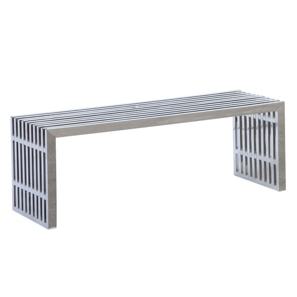 MaxMod Zeta Stainless Steel Long Silver Bench