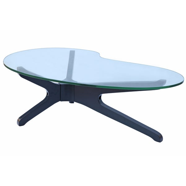MaxMod Sculpt Black Glass Coffee Table
