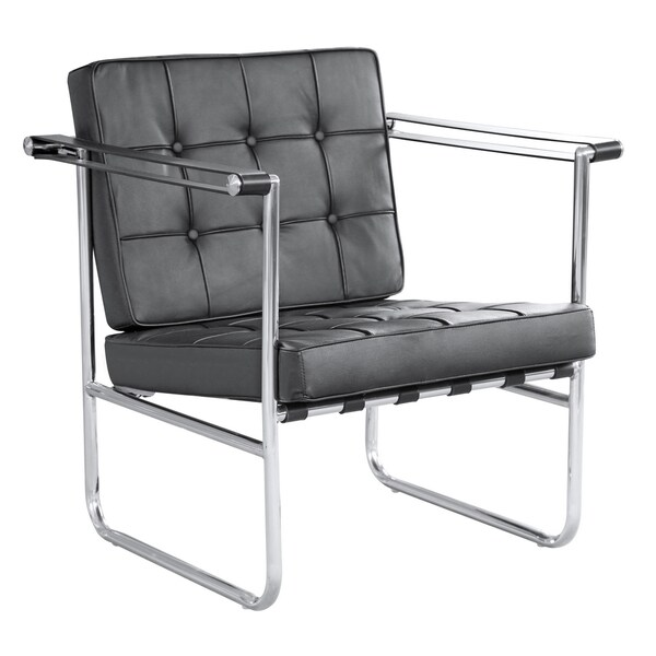 MaxMod Celona White Leather Chair