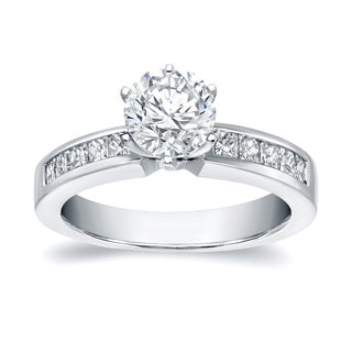 Auriya 14k White Gold 1 1/4ct TDW Round-cut Engagement Ring (H-I, SI1-SI2)