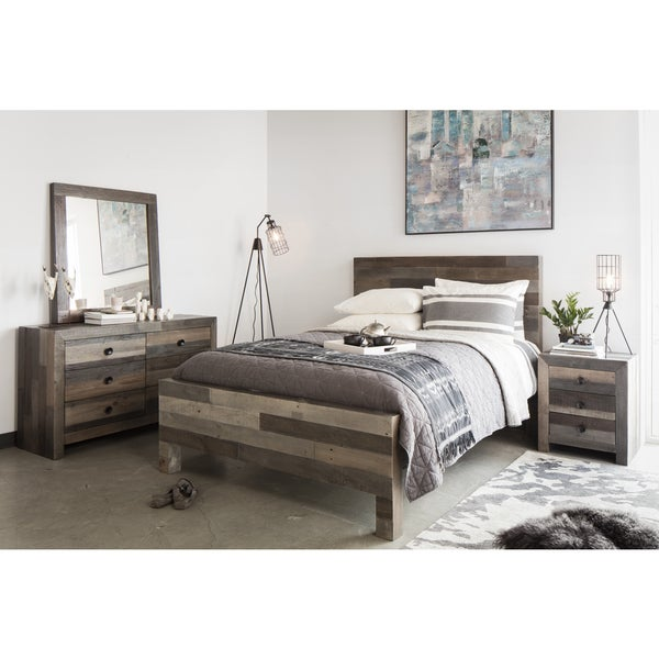 Distressed Vintage Wash Finish Bed