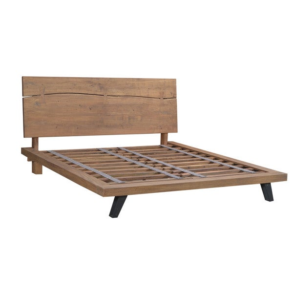 Margaret Acacia Wood Low-profile Bed