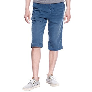 Stitch's Mens Casual Shorts Canvas Trousers Work Pants Woven Cotton (Blue)