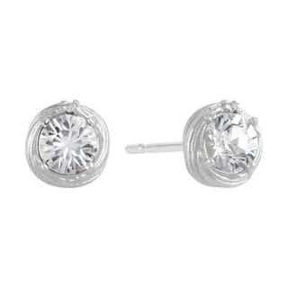 Sunstone Sterling Silver Swarovski Crystal Cupcake Swirl Earrings