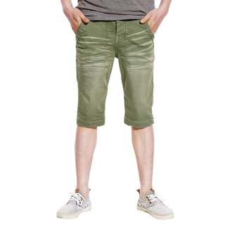 Stitch's Mens Casual Cargo Shorts Sports Soft Cotton Trousers Pants (Bright Green)