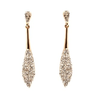 18k Goldplated Gold and White Austrian Crystal Dangle Earrings