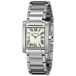 Cartier Women's W51008Q3 'Tank' Silver Stainless steel Watch