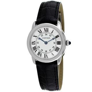 Cartier Women's W6700155 'Ronde Solo' Black Leather Watch