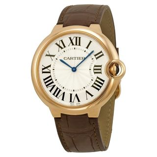 Cartier Men's W6920083 'Ballon Bleu' Automatic Brown Leather Watch