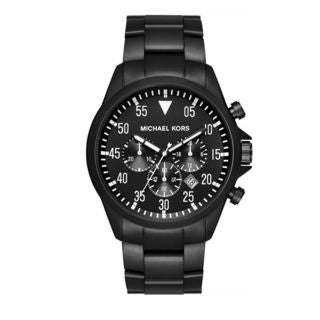 Michael Kors Men's MK8414 'Gage' Chronograph Black Stainless Steel Watch