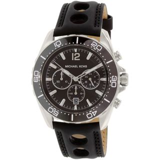 Michael Kors Men's MK8419 'Winward' Chronograph Black Silicone Watch