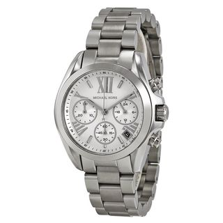Michael Kors Women's MK6174 'Mini Bradshaw' Chronograph Stainless Steel Watch