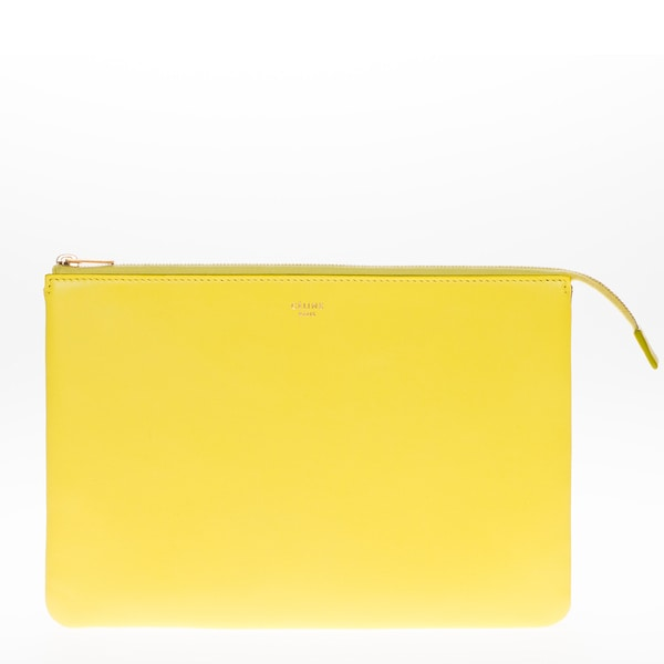 Celine Duo Leather Cosmetic Pouch