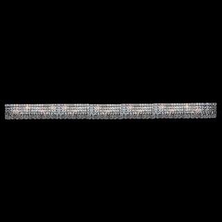 Contemporary 18 Light Chrome Finish Crystal Strand Wall Vanity Light