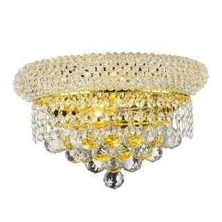 Empire 2 Light Gold Finish Crystal Wall Sconce Light