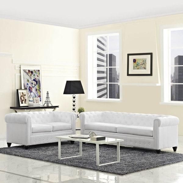 Earl 2-piece Vinyl Living Room Set