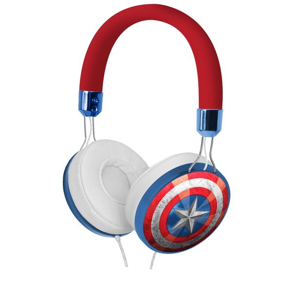 Kid Designs Captain America Fashion Over The Ear Headphones