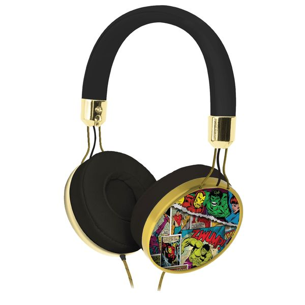 Kid Designs Marvel Comic Fashion Over The Ear Headphones
