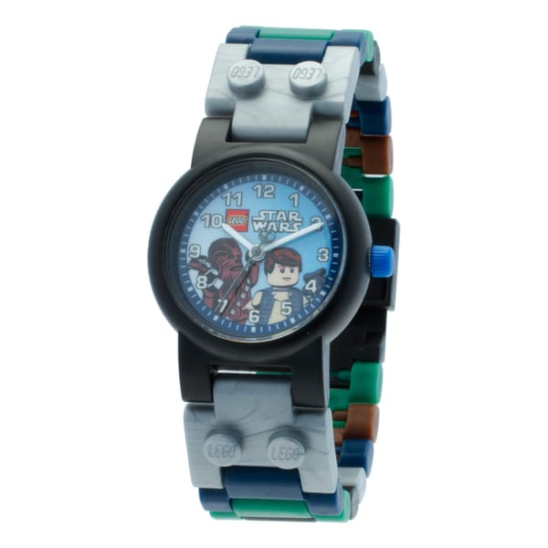 LEGO Star Wars Han Solo and Chewbacca Kid's Minifigure Interchangeable Links Watch