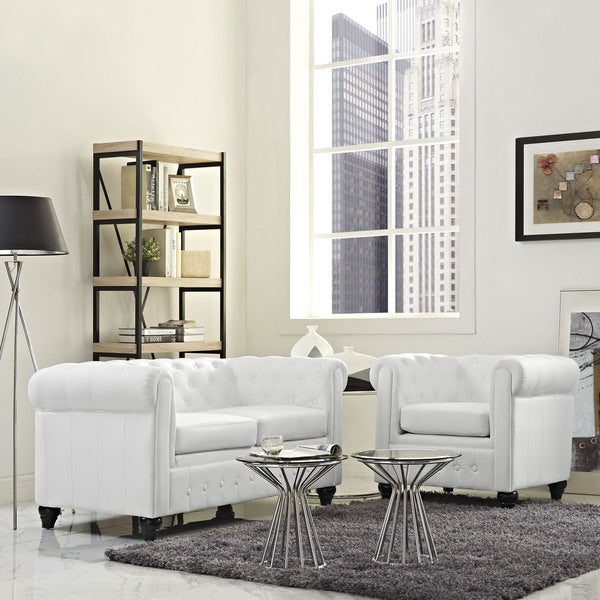 Earl 2-piece Vinyl Living Room Set