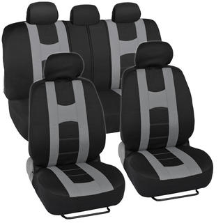 Sporty Racing Style Black and Gray Seat Covers
