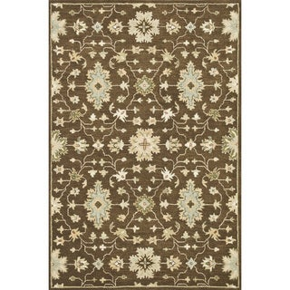Hand-tufted Wilson Brown Rug (9' x 12')