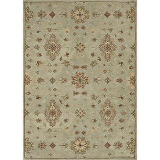 Hand-tufted Wilson Turquoise Rug (9' x 12')