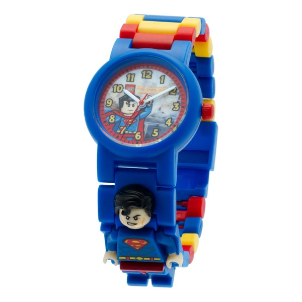 LEGO Super Heroes Superman Kid's Minifigure Interchangeable Links Watch 15657044