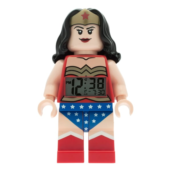LEGO DC Super Heroes Wonder Woman Kid's Moveable Minifigure Alarm Clock