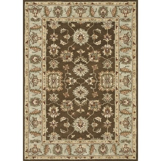 Hand-tufted Wilson Brown/ Turquoise Rug (9' x 12')