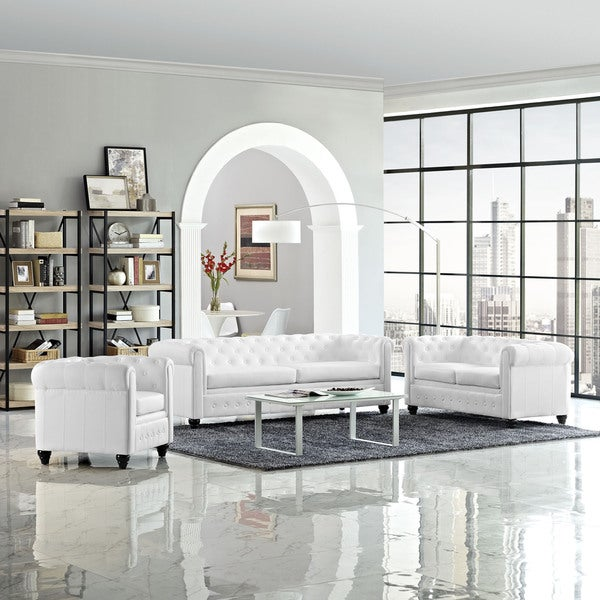 Earl 3-piece Vinyl Living Room Set
