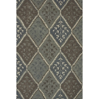 Hand-tufted Wilson Blue/ Multi Rug (9' x 12')