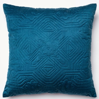 Deliah Navy Quilted Down Feather or Polyester Filled 22-inch Throw Pillow or Pillow Cover