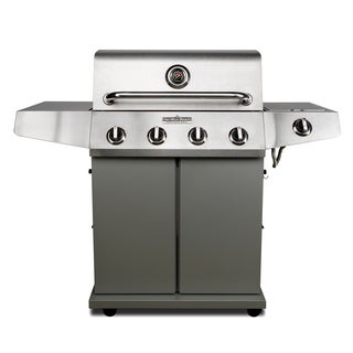 Hamilton Beach Stainless Steel 4 Burner w/Side Burner Quick Assembly Grill
