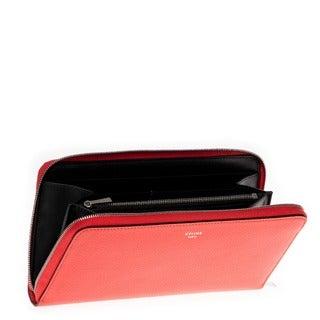 Celine Textured Leather Zip-around Wallet
