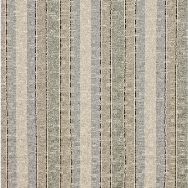 Blue/ Beige and Green Striped Washed Linen Look Upholstery Fabric by the Yard