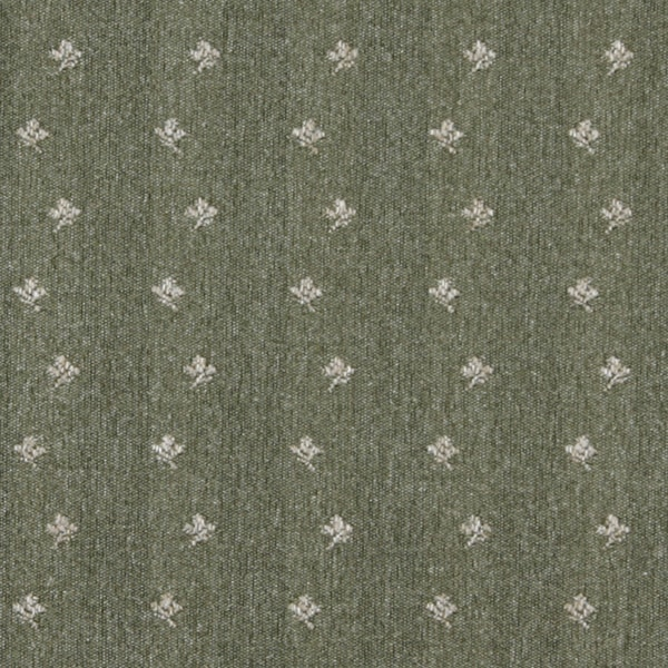C638 Green Beige Mini Flowers Country Style Upholstery Fabric by the Yard