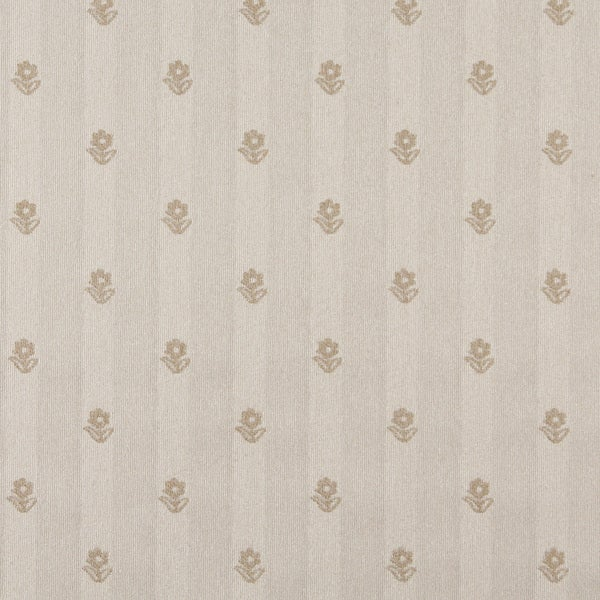 C625 Khaki and Beige Flowers Country Style Upholstery Fabric by the Yard