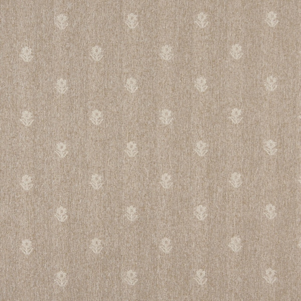 C621 Sand and Ivory Flowers Country Style Upholstery Fabric by the Yard