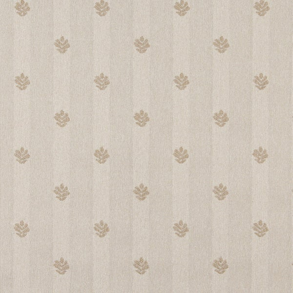 C605 Khaki and Beige Leaves Country Style Upholstery Fabric by the Yard