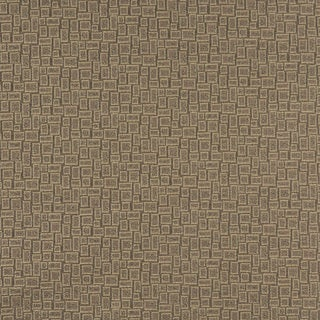 C592 Khaki Beige Geometric Rectangles Durable Upholstery Fabric by the Yard