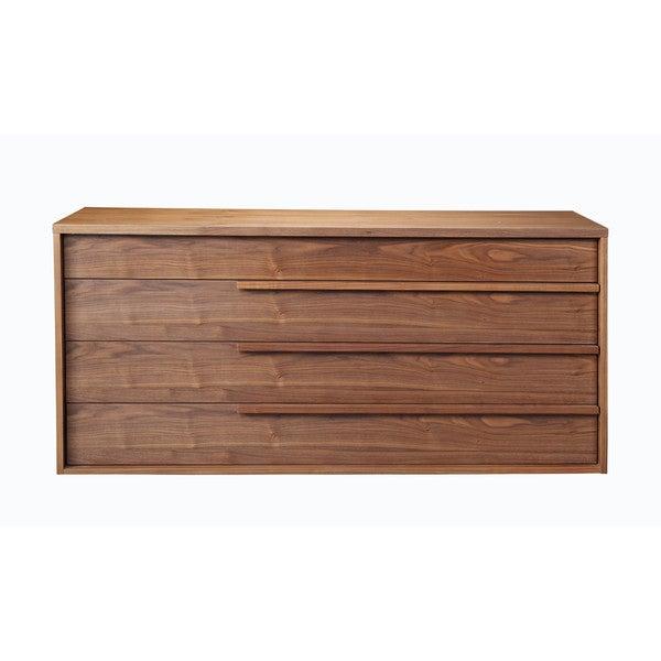 Aurelle Home Melissa 4-drawer Walnut Dresser