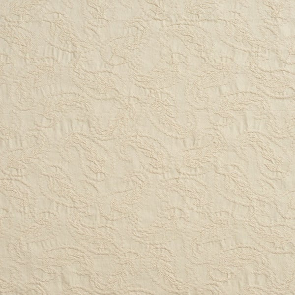 C453 Off White Textured Woven Paisleys Upholstery Fabric by the Yard